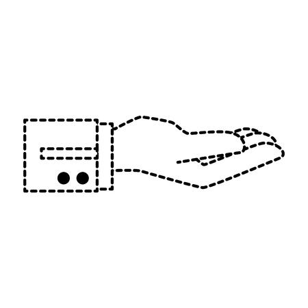 Illustration pour hand waiter receibed icon vector illustration design - image libre de droit