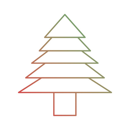 Illustration for Christmas tree icon. - Royalty Free Image