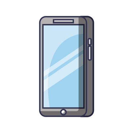 Illustration pour Modern touchscreen gadget smartphone empty screen vector illustration - image libre de droit