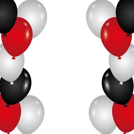 Ilustración de festive border balloons for decoration party card vector illustration - Imagen libre de derechos