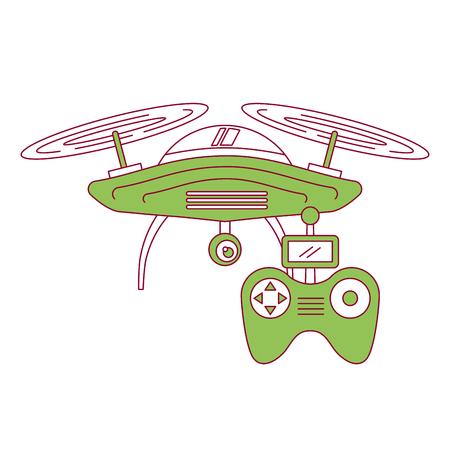 Illustration pour drone with remote control device technologies design vector illustration - image libre de droit