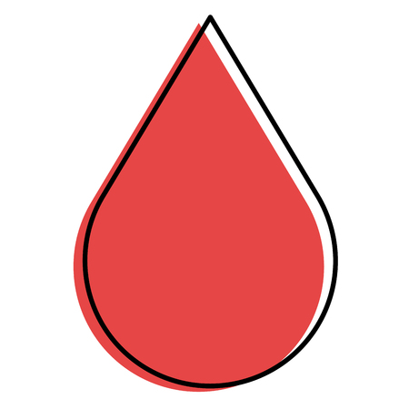 Ilustración de drop blood isolated icon vector illustration design - Imagen libre de derechos