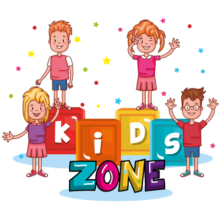 Illustration for Kids zone poster icon vector illustration design. - Royalty Free Image