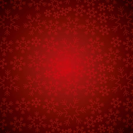 Illustration pour Red elegant Christmas background with snowflakes abstract vector illustration - image libre de droit