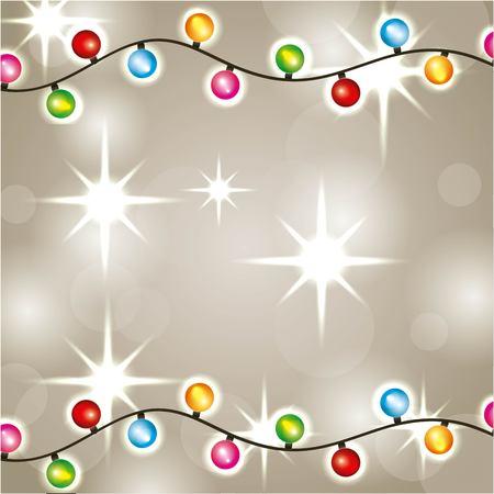Illustration pour Christmas lights luminous garland glowing decoration vector illustration - image libre de droit