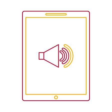 Illustration pour Device technology tablet computer sound volume button vector illustration - image libre de droit