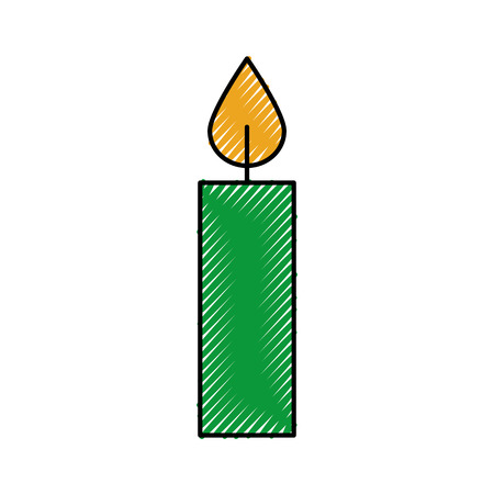 Ilustración de christmas candle burning celebration decoration vector illustration - Imagen libre de derechos