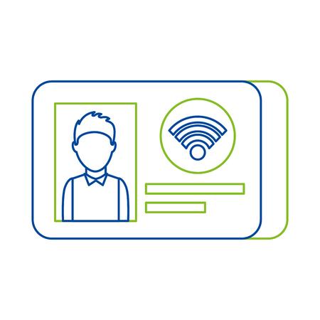 Ilustración de id card identity photo personal document vector illustration - Imagen libre de derechos