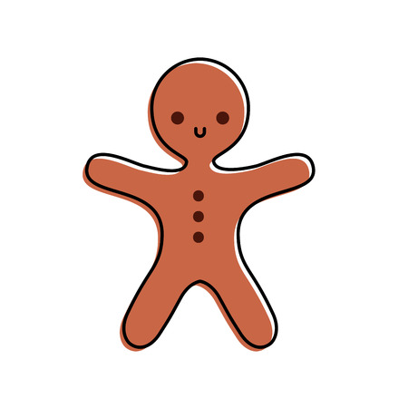 Illustration for merry christmas gingerbread cookie sweet food vector illustration - Royalty Free Image