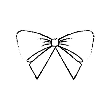 Illustration for christmas bow decoration ornament delicate vector illustration - Royalty Free Image
