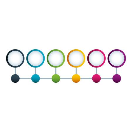 Ilustración de timeline circle and dots structure connected design vector illustration - Imagen libre de derechos