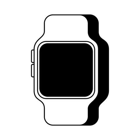 Illustration pour smart watch device technology wireless vector illustration - image libre de droit