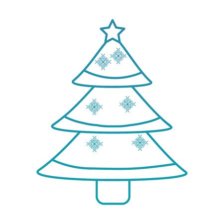 Illustration for christmas tree decoration traditional holiday vector illustration - Royalty Free Image