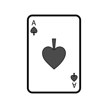 Illustration pour poker casino ace spade card playing icon vector illustration - image libre de droit
