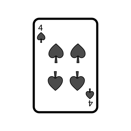 Illustration pour poker playing card spade casino gambling icon vector illustration - image libre de droit
