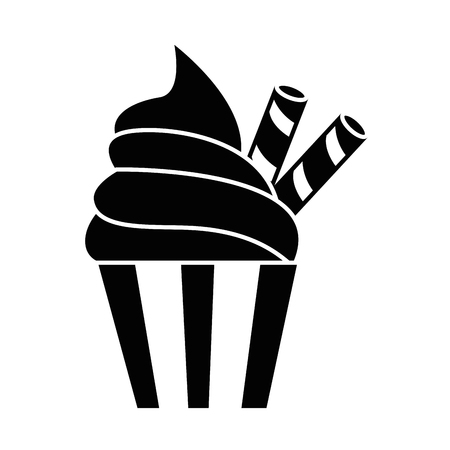 Illustration for delicious cupcake isolated icon vector illustration design - Royalty Free Image