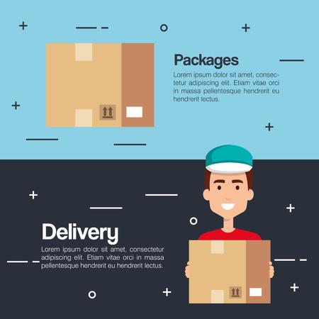 Illustration pour delivery service business icons vector illustration design - image libre de droit