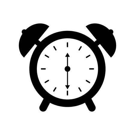 Illustration for alarm clock time alert bell hour concept vector illustration - Royalty Free Image