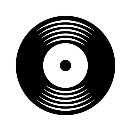 Ilustración de music vinyl disk vintage cartoon vector illustration - Imagen libre de derechos