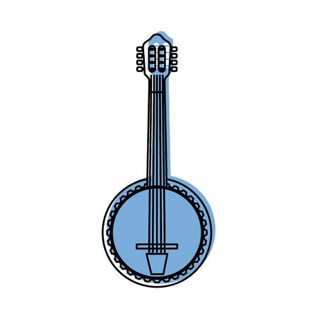Illustration pour banjo jazz instrument musical festival celebration vector illustration - image libre de droit