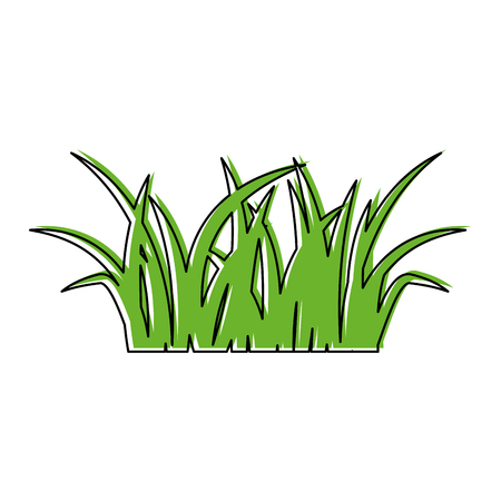 Ilustración de green grass natural forest foliage image vector illustration - Imagen libre de derechos