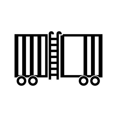 Illustration pour freight train cargo car container and logistics transport design element vector illustration - image libre de droit