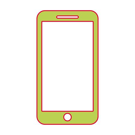Illustration pour mobile phone smart device gadget vector illustration - image libre de droit