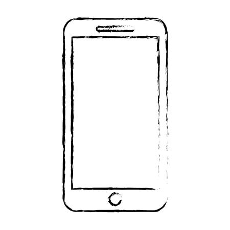Illustration pour Mobile phone smart device gadget, vector illustration. - image libre de droit