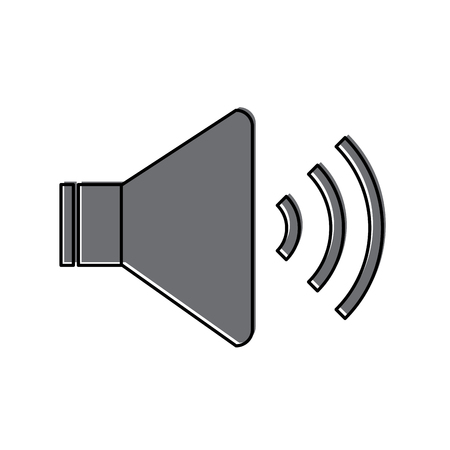 Ilustración de Speaker sound on icon image vector illustration design - Imagen libre de derechos
