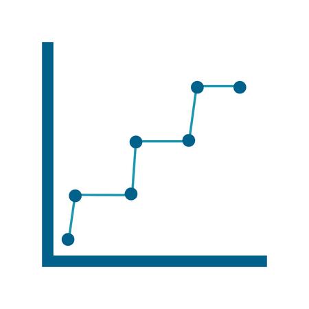Ilustración de business graph diagram and statistics dotted line symbol vector illustration - Imagen libre de derechos
