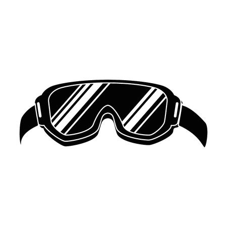 Ilustración de ski goggles isolated icon vector illustration design - Imagen libre de derechos
