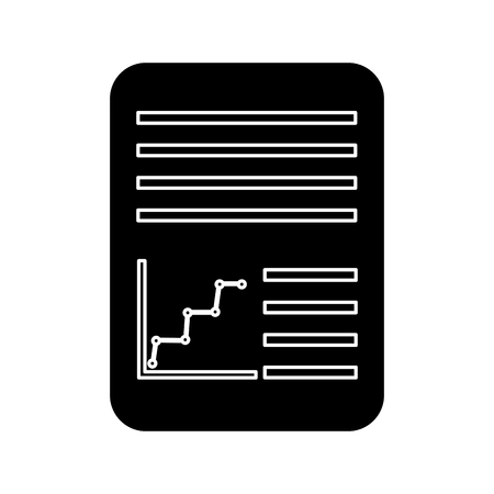 Illustration pour paper document icon image vector illustration design  black and white - image libre de droit