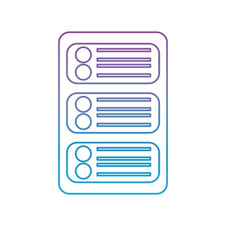 Illustration pour data center development network technology vector illustration - image libre de droit