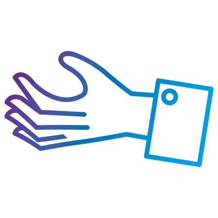 Illustration pour Hand human receiving flat icon vector illustration design - image libre de droit