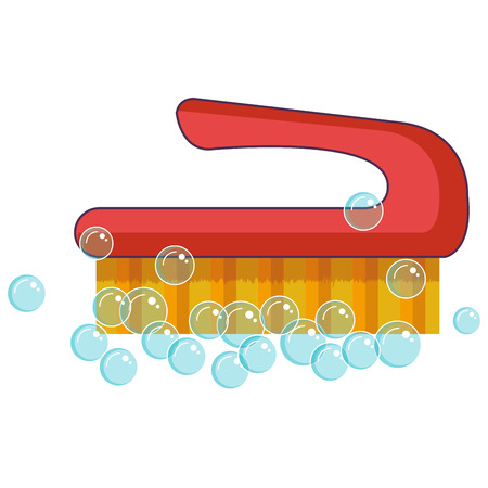 Illustration pour handle brush cleaning isolated icon vector illustration design - image libre de droit