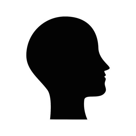 Illustration pour human profile isolated icon vector illustration design - image libre de droit