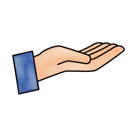 Illustration pour Hand human receiving icon vector illustration design - image libre de droit