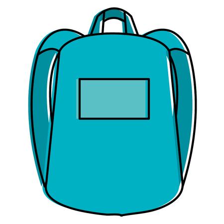 Ilustración de school bag isolated icon vector illustration design - Imagen libre de derechos