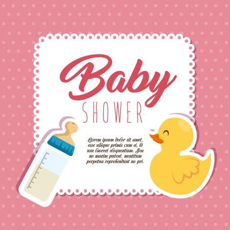 Ilustración de baby shower invitation card vector illustration graphic design - Imagen libre de derechos