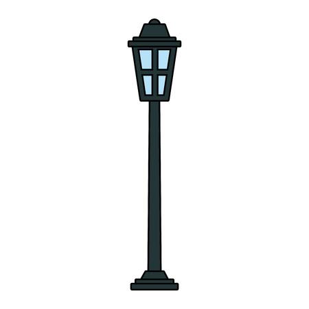Illustration for park street lamp light glass vintage decoration vector illustration - Royalty Free Image