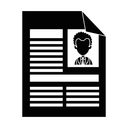 Ilustración de curriculum vitae isolated icon vector illustration design - Imagen libre de derechos
