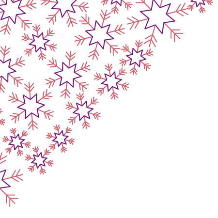 Illustration for snowflakes in the corner paper design winter vector illustration - Royalty Free Image