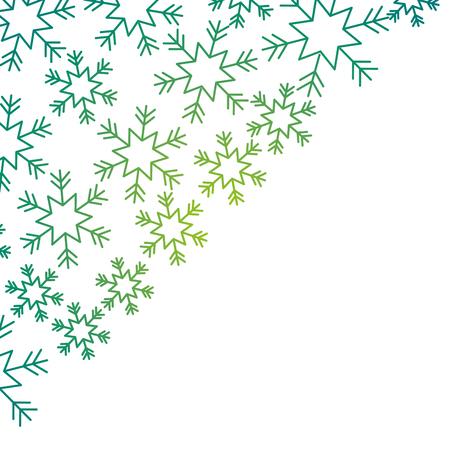 Ilustración de snowflakes in the corner paper design winter vector illustration - Imagen libre de derechos