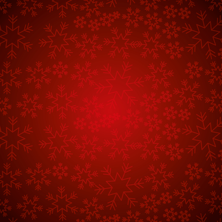 Ilustración de red snowflake winter decoration seamless christmas vector illustration - Imagen libre de derechos