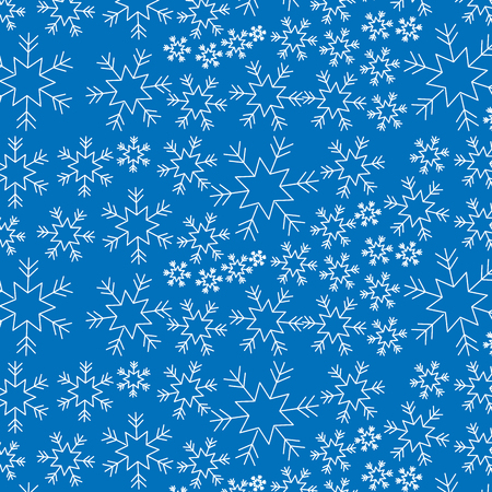 Illustration for blue snowflake winter decoration seamless christmas vector illustration - Royalty Free Image