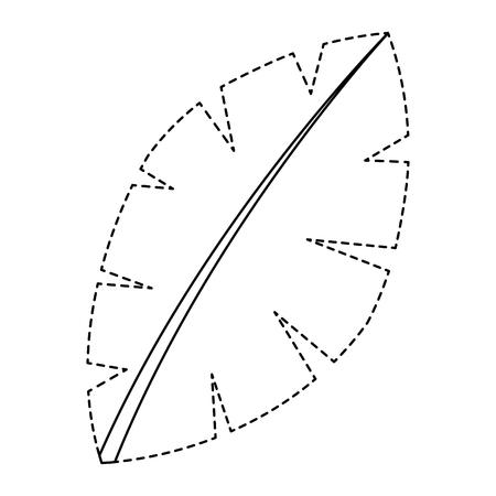 Ilustración de leaf palm tree foliage natural image vector illustration sticker - Imagen libre de derechos
