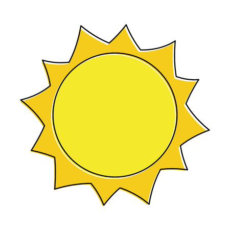 Illustration for sun hot weather day sky natural vector illustration - Royalty Free Image