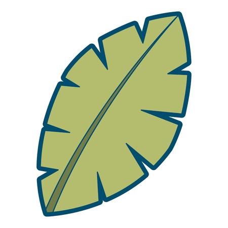 Ilustración de leaf palm tree foliage natural image vector illustration - Imagen libre de derechos