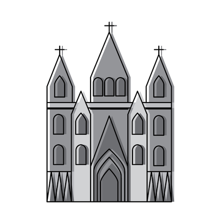 Ilustración de sagrada familia gaudi basilica temple church in barcelona spain vector illustration - Imagen libre de derechos