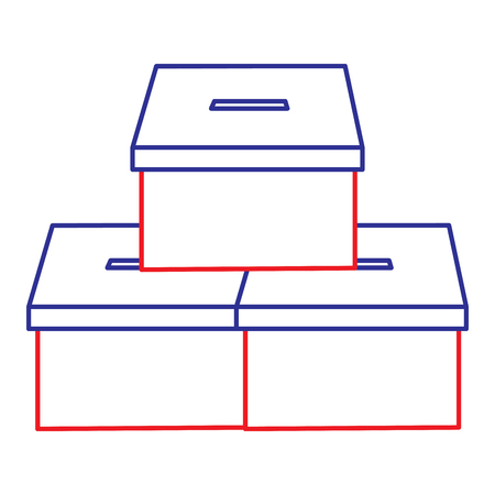 Illustration pour pile vote cardboard boxes carton image vector illustration - image libre de droit